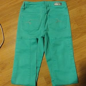 Mint colored jeans